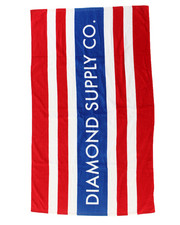 Accessories - Red Stripes Diamond Towel