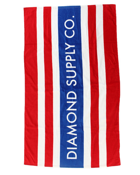 Diamond Supply Co - Men Blue,Red Red Stripes Diamond Towel