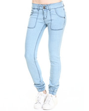 Women - Selfie Self Cuff Pork Chop Pocket Denim Jogger