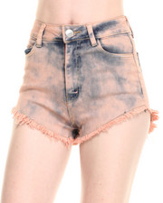 Women - High Waist Over Dye Shorts