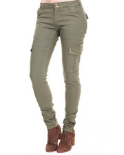 Fashion Lab - Solid Studded Cargo Twill Pant