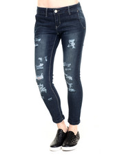 Basic Essentials - Rebel by Right Roll Cuff Ankle Denim Pant