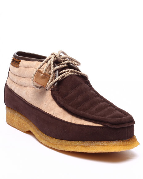 Ur-ID 223748 British Walkers - Men Beige Castle 3 / 4 Leather / Suede Shoes