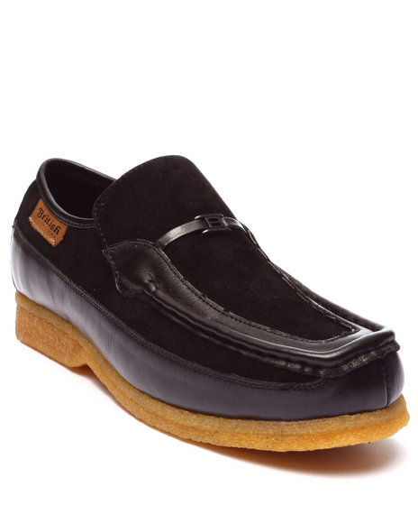 Ur-ID 223751 British Walkers - Men Black Power Leather / Suede Slip - On Shoes