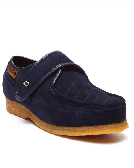 British Walkers - Men Navy Royal Velcro Shoes