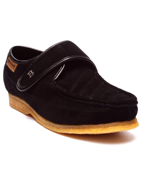 Ur-ID 223754 British Walkers - Men Black Royal Velcro Shoes