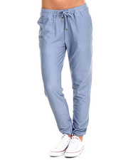 Women - Solid Knit Denim Jogger