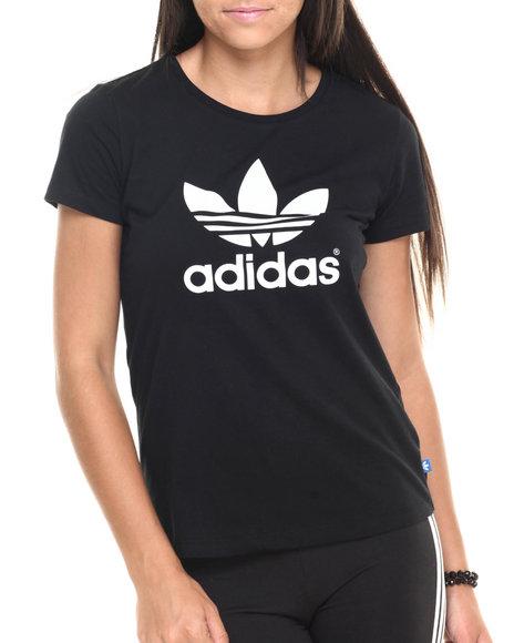 Ur-ID 223780 Adidas - Women Black Trefoil Tee