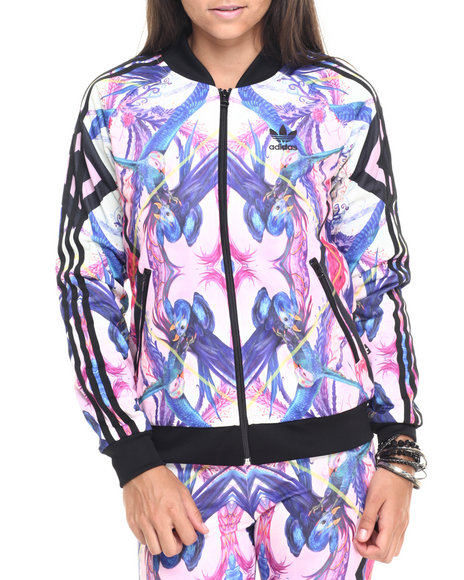 Adidas - Women Multi Optic Bloom Superstar Track Jacket