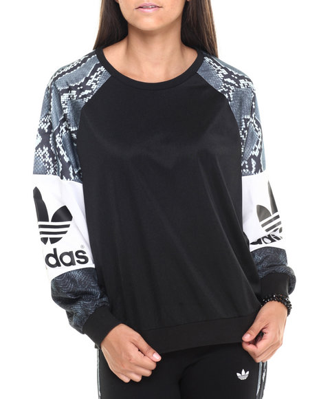 Adidas - Women Black L.A. Printed Sweatshirt
