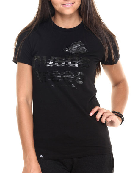 Ur-ID 223816 LRG - Women Black Hustle Trees Boyfriend Tee
