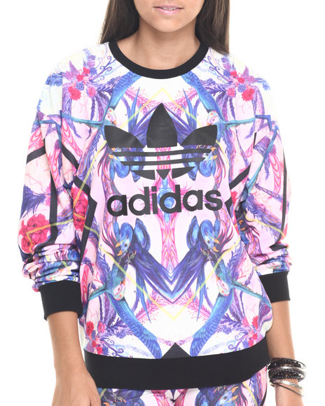 Ur-ID 223817 Adidas - Women Multi Optic Bloom Sweatshirt
