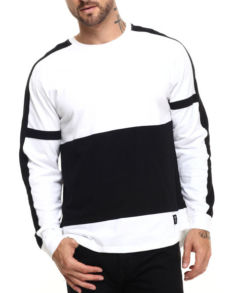 Ur-ID 223769 Akomplice - Men Black,White W-Long Dt L/S Tee