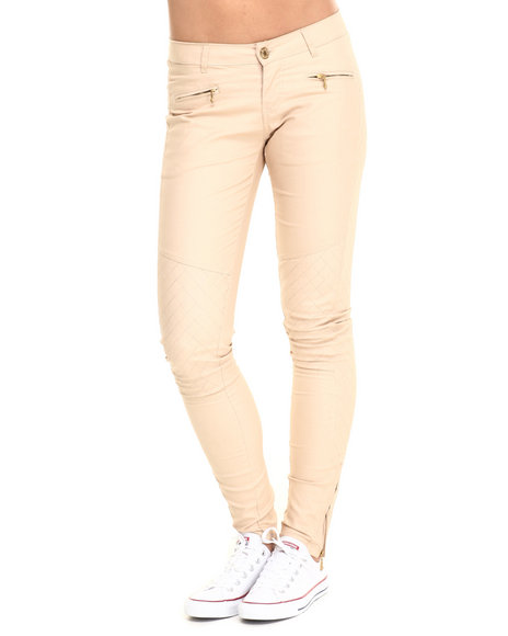 Ur-ID 223774 Basic Essentials - Women Khaki Light Coated Coco Quilted Skinny