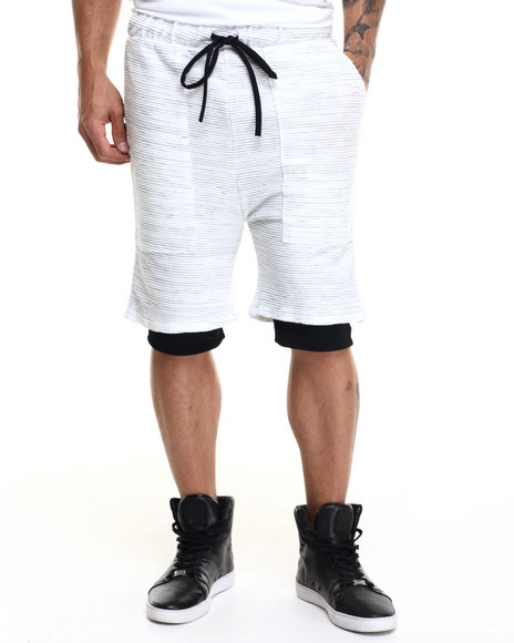 Ur-ID 223778 EPTM. - Men Off White,Light Grey Navajo Marble French Terry Shorts