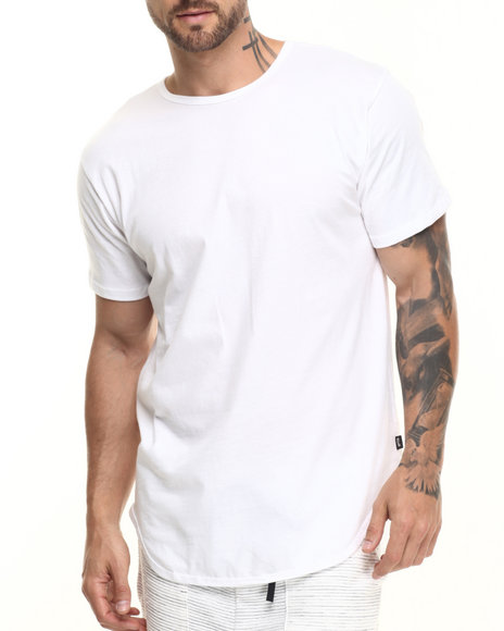 Eptm. - Men White Essentials Elongated S/S Tee - $20.00