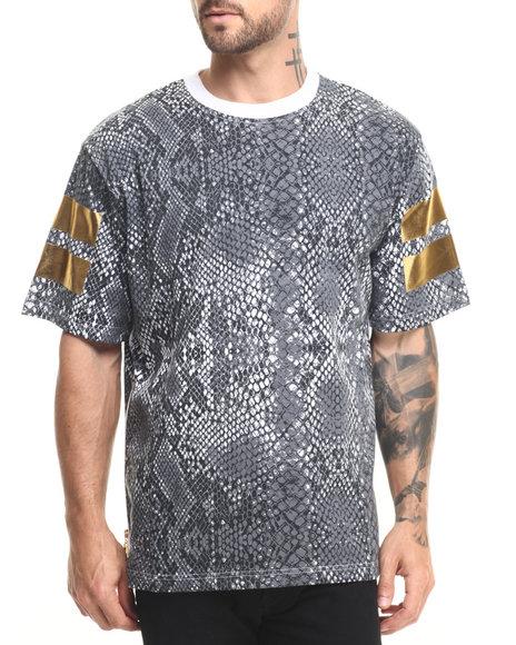 Ur-ID 223788 Eight 732 - Men Grey,White Snake Skin T-Shirt