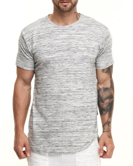 Ur-ID 223792 EPTM. - Men Beige,Grey Essentials Marble Terry Elongated S/S Tee