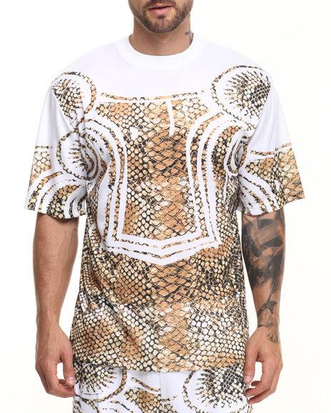 Eight 732 - Men White Asymmetric T-Shirt