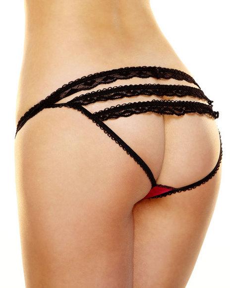 Hustler Lingerie - Women Black,Pink Rear View Panty