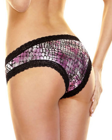 Ur-ID 223840 Hustler Lingerie - Women Pink Sexy Foil Bootyshort