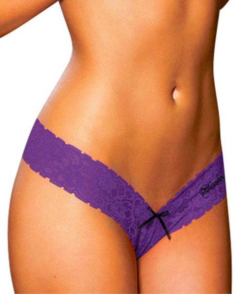Ur-ID 223860 Hustler Lingerie - Women Purple Hustler Lace Thong