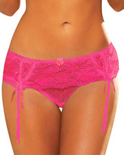 Women - Lace Garter Thong