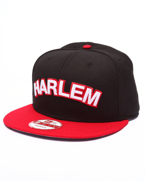 New Era Men Harlem World Edition Snapback Hat Black