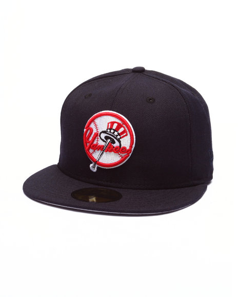 New Era - Men Navy New York Yankees Pin Fitted Hat
