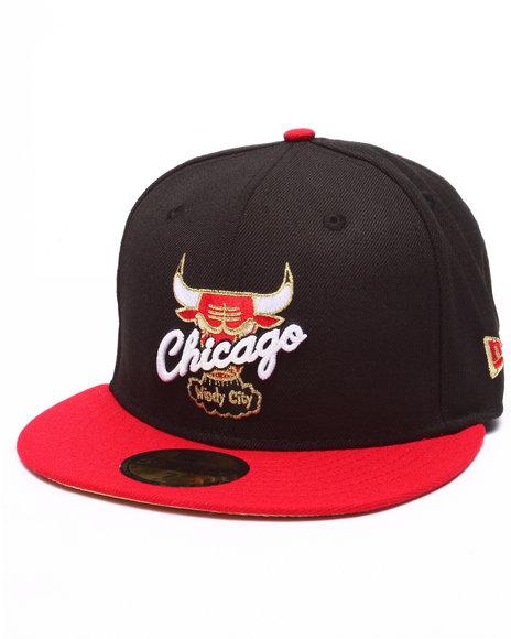 Ur-ID 223871 New Era - Men Black Chicago Bulls Goldz Edition Fitted Hat