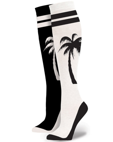 Stance Socks - Women White Mini Palm Tall Boot Socks