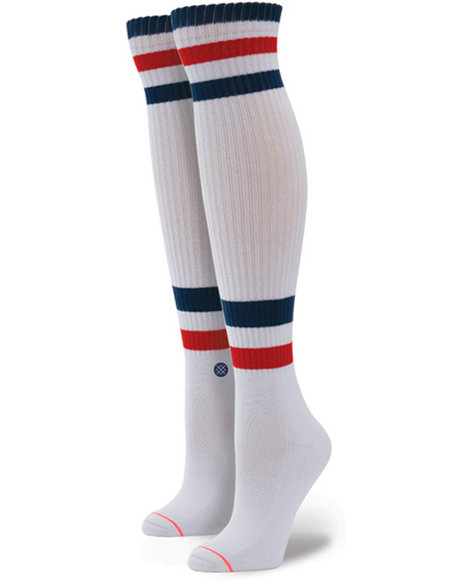 Stance Socks - Women White I.V. Over The Knee Socks