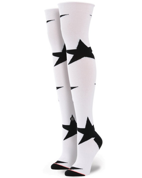 Stance Socks - Women White Freedom Over The Knee Socks