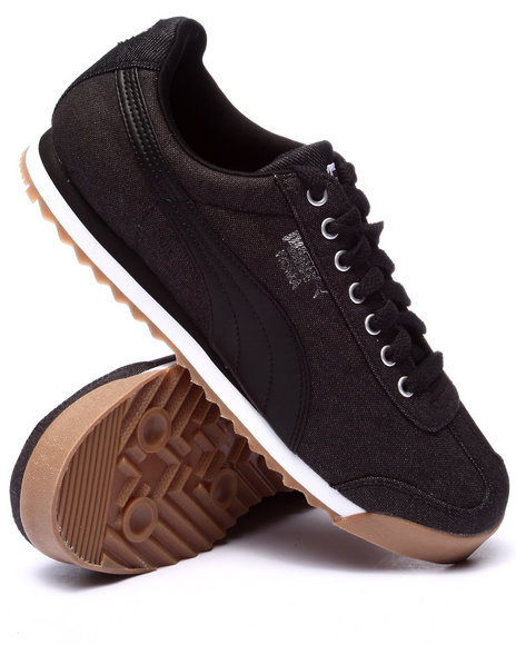 Puma - Men Black Roma Waxed Denim Lo