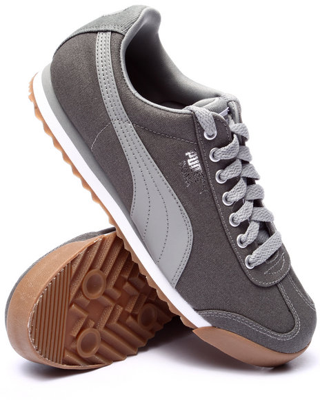 Puma - Men Grey Roma Waxed Denim Lo