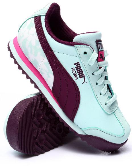 Puma - Girls Light Blue Roma Basic Mp Floral Jr Sneakers (11-7) - $47.00