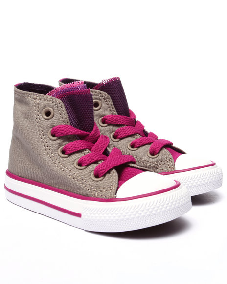 Converse - Girls Light Grey Chuck Taylor All Star Party (5-10)