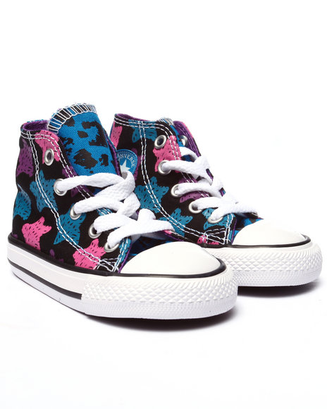 Converse - Girls Multi Chuck Taylor All Star Print Hi (5-10)