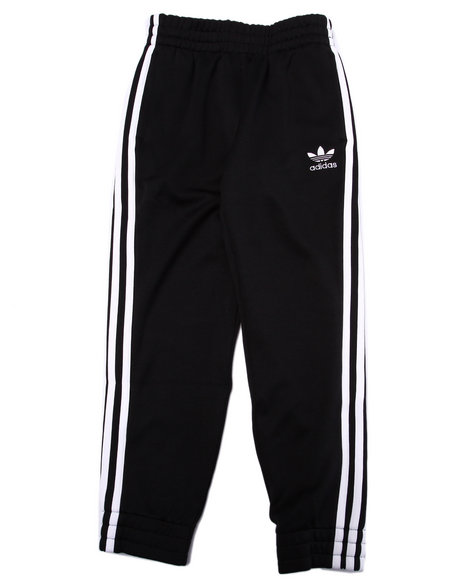 Adidas Boys Junior Superstar Fitted Track Pants Black Large