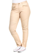 Basic Essentials - Light Coated Coco Quilted Skinny (Plus)