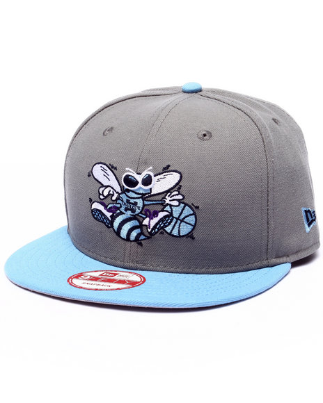 New Era Men Charlotte Hornets Sky Edition Snapback Hat Grey