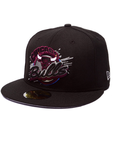 New Era - Men Black Chicago Bulls Bordeaux 4 Edition Fitted Hat - $18.99