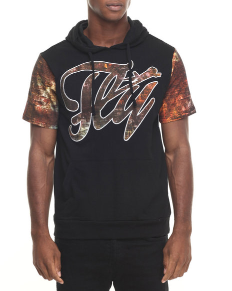Ur-ID 223879 Flysociety - Men Black The Bomber S/S Hoodie