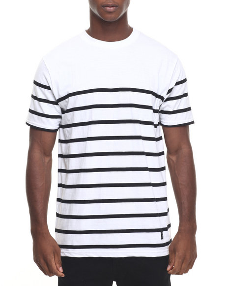 Ur-ID 223885 Akomplice - Men White Lined Tee
