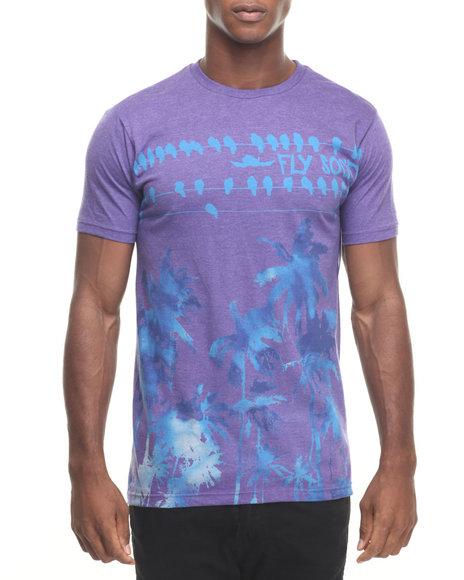 Ur-ID 223887 Flysociety - Men Purple Fly Dye Sunset T-Shirt
