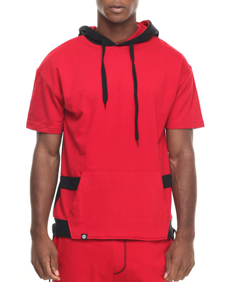 Ur-ID 223889 Akademiks - Men Red Avenger French Terry S/S Hoody