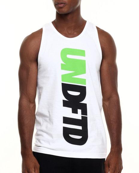 Ur-ID 223891 UNDFTD - Men White Undftd Verticle Tank