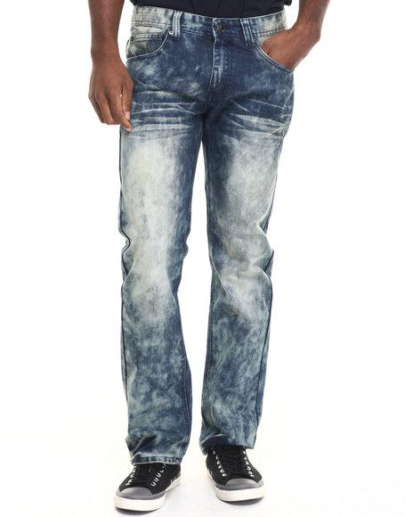 Akademiks Men Gateway Wash Denim Jeans Indigo 36x34