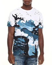 Men - Ocean Print 4 color process s/s tee
