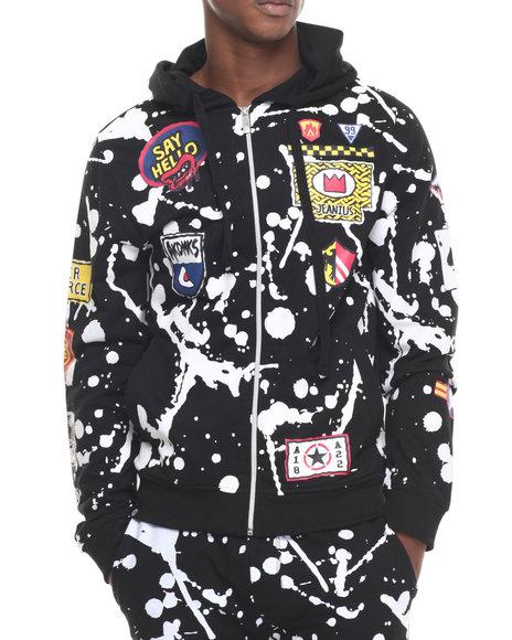 Ur-ID 223913 Akademiks - Men Black Buckeye Full Zip Hoodie
